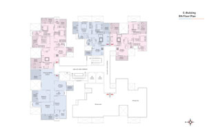 C wing 8th Floor Plan