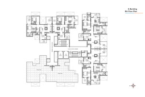 E wing 8th Floor Plan