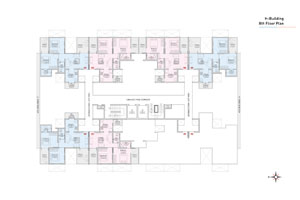 H wing 8th Floor Plan