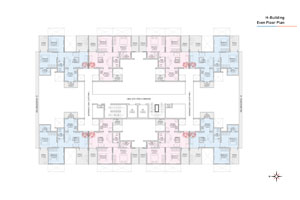 H wing Even Floor Plan